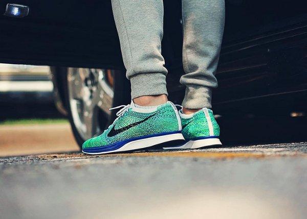 Nike Flyknit Racer Green Strike (7)
