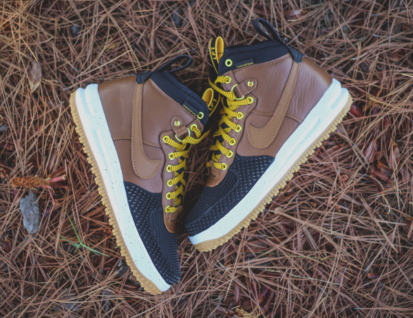 Nike Lunar Force 1 Duckboot Black Brown (1)