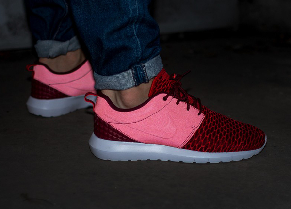 on sale 75454 881d8 ... reduced nike roshe run flyknit nm gym red 2 d07d2 9b775