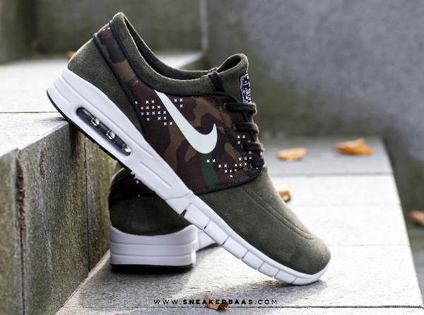 the best attitude 100% genuine order online Nike Janoski Max Suede Sequoia Camo : où l'acheter ?