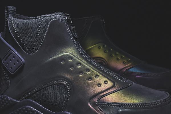Nike Wmns Air Huarache Run Mid Premium Anthracite Menta (10)