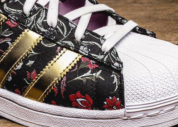 Adidas Superstar W Jacquard Floral 'Merlot'