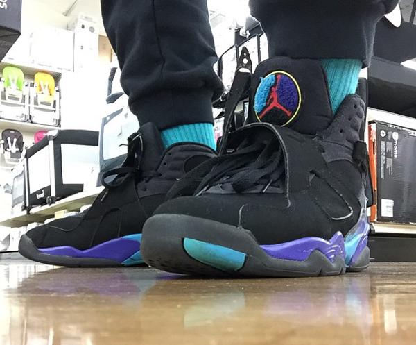 porter la Air Jordan 8 Retro Aqua - @shaunpmusi