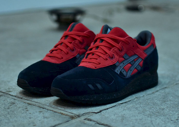Asics Gel Lyte 3 Black Red (rouge & noire) (1)