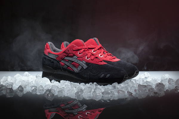 Asics Gel Lyte 3 Black Red (rouge & noire) (8)