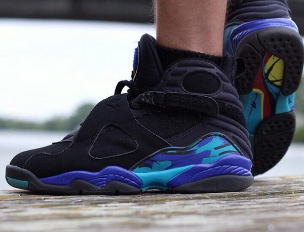 Chaussettes Air Jordan 8 Aqua - @elogary95 (2)