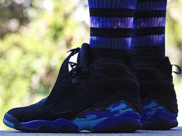 Chaussettes longues Air Jordan 8 Aqua - @djbluiz