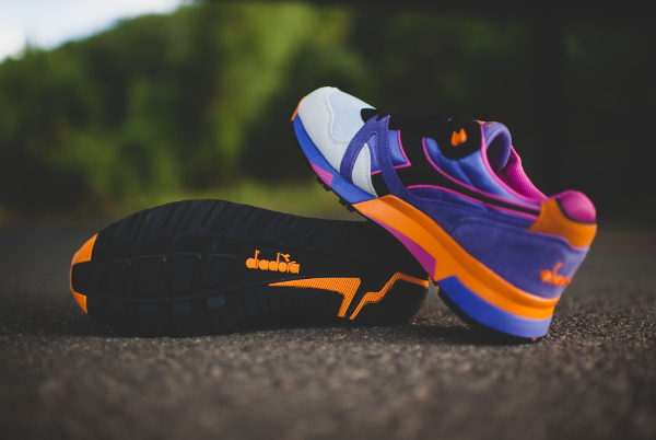 Diadora N9000 Violet Purple Orange (2)