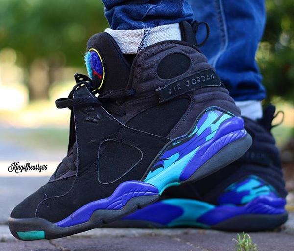 Jeans pinroll Air Jordan 8 Aqua - @kingofheartz86