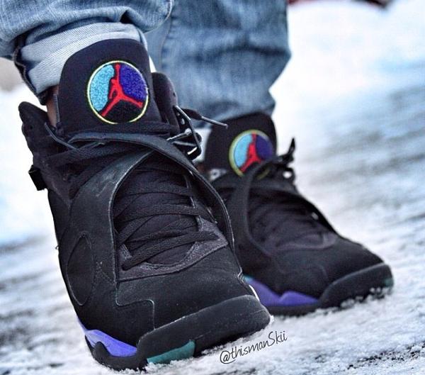 Jeans pinroll Air Jordan 8 Aqua - @thismanskii