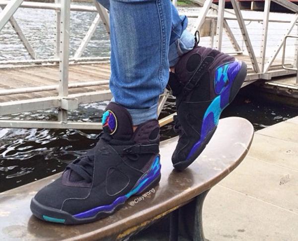 Jeans slim Air Jordan 8 Aqua - @claywong