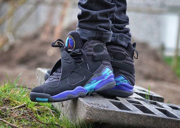 Jeans slim Air Jordan 8 Aqua - @houdelaly (1)