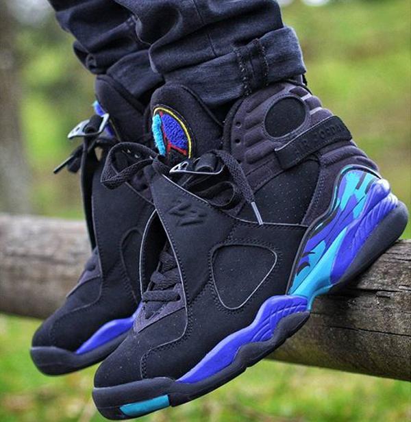 Jeans slim Air Jordan 8 Aqua - @houdelaly