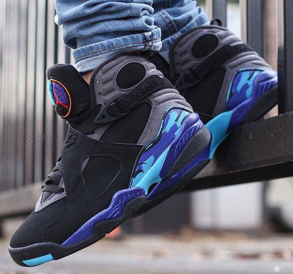 Jeans slim Air Jordan 8 Aqua - @jrsole (1)