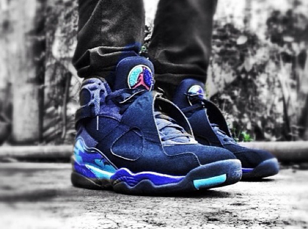 Jeans slim Air Jordan 8 Aqua - @zcfannnn