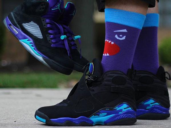 Longues chaussettes Air Jordan 8 Aqua - @djbluiz