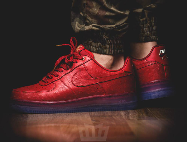 new style 424fb f7358 nike air force 1 cmft lux low red ostrich
