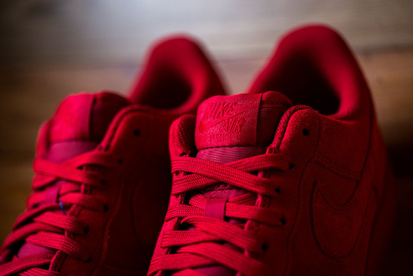 Nike Air Force 1 Low Suede rouge (6)