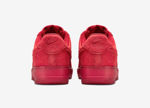Nike Air Force 1 basse en daim rouge homme (2)