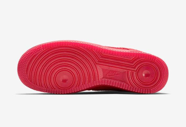 Nike Air Force 1 basse en daim rouge homme (4)