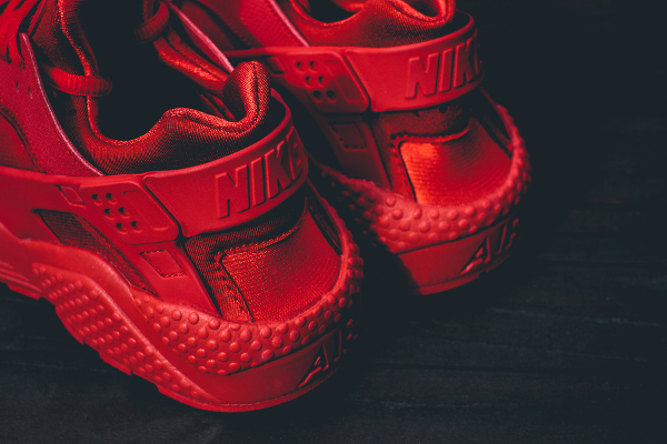Nike Air Huarache rouge (3)