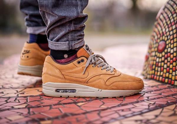 nike air max 1 leather premium 'wheat pack' bronze baroque brown