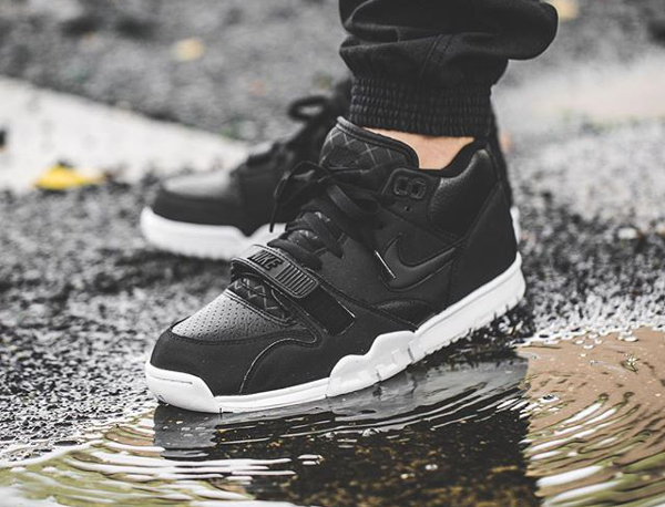 Nike Air Trainer 1 Mid Black White (2)