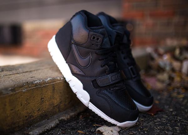 Nike Air Trainer 1 Mid cuir noir (1)