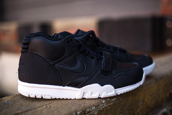 Nike Air Trainer 1 Mid cuir noir (3)