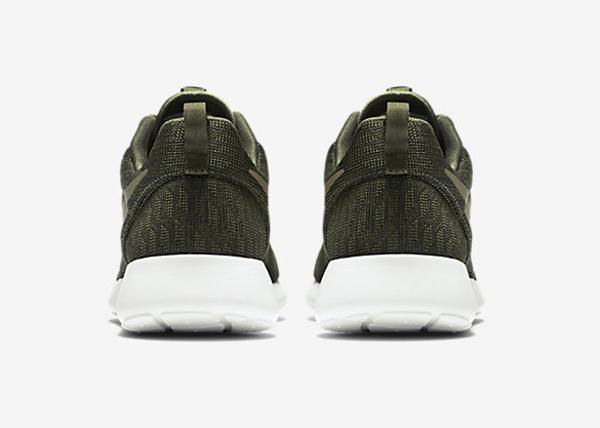Nike Roshe One Hyperfuse Knit KJCRD vert kaki pour homme (2)