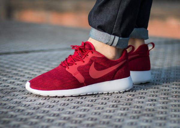 Nike Roshe Run Jacquard Gym Red pas cher (1)