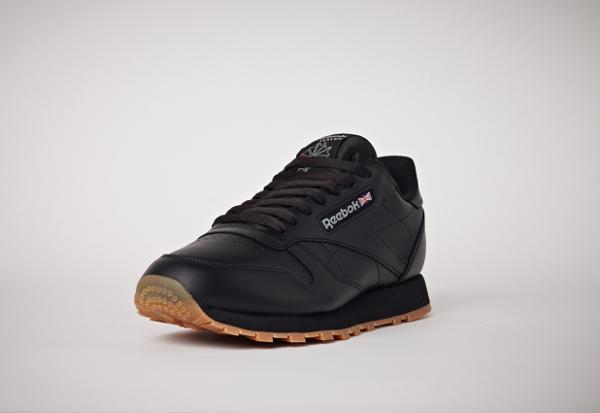 Reebok Classic Leather en cuir noir homme avec semelle gomme (10)