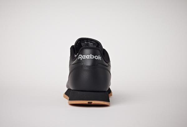 Reebok Classic Leather en cuir noir homme avec semelle gomme (13)
