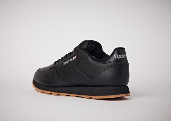 Reebok Classic Leather en cuir noir homme avec semelle gomme (14)