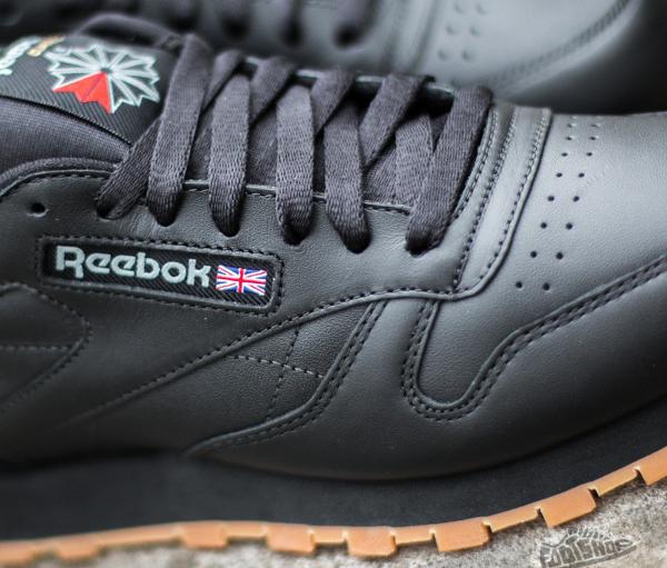 Reebok Classic Leather en cuir noir homme avec semelle gomme (7)