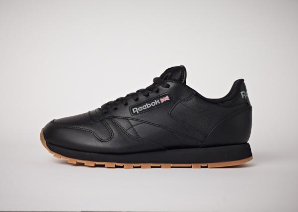 Reebok Classic Leather en cuir noir homme avec semelle gomme (9)