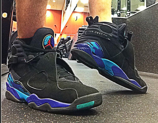 Sans chaussettes Air Jordan 8 Aqua - @boss_tyleon