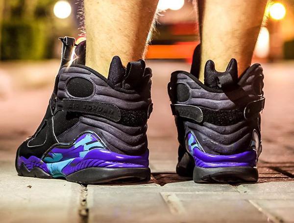 Sans chaussettes Air Jordan 8 Aqua - @chrispykix_  (2)