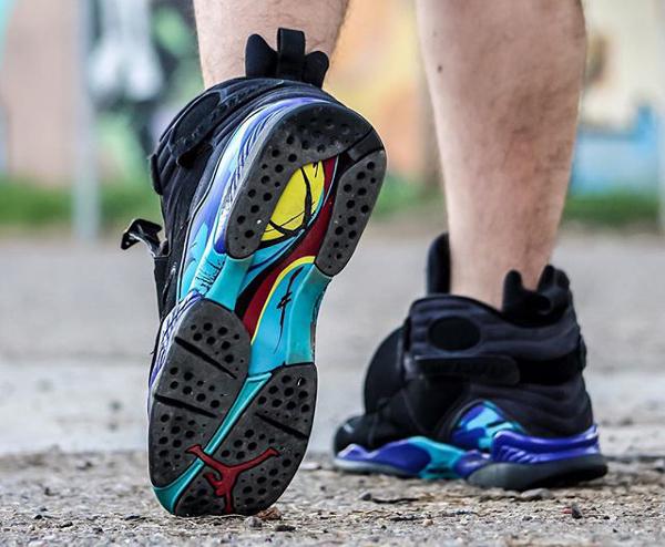 Sans chaussettes Air Jordan 8 Aqua - @chrispykix_ (3)