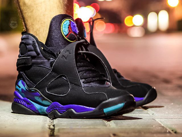 Sans chaussettes Air Jordan 8 Aqua - @chrispykix_ (4)