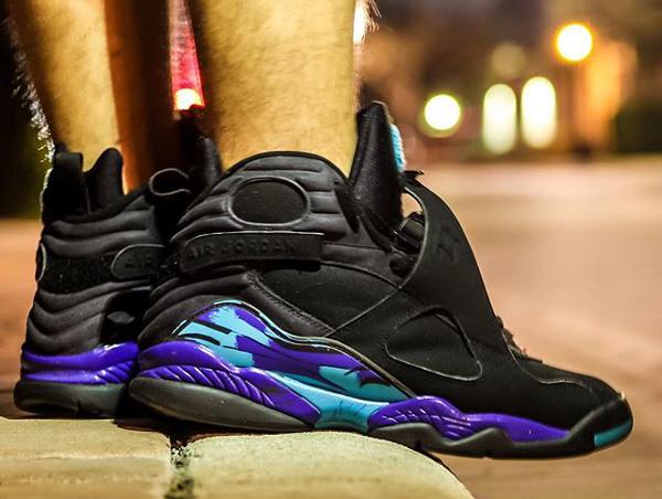 Sans chaussettes Air Jordan 8 Aqua - @chrispykix_