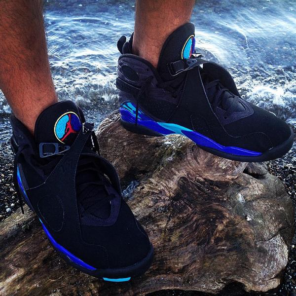 Sans chaussettes Air Jordan 8 Aqua - @dezzyscloset