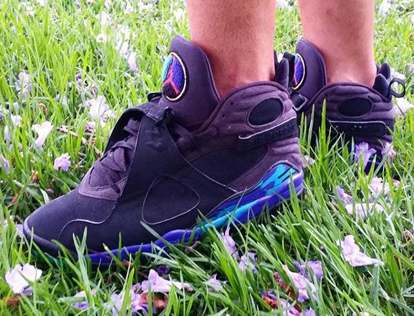 Sans chaussettes Air Jordan 8 Aqua - @mtk23