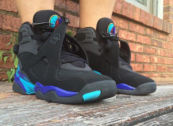 Sans chaussettes Air Jordan 8 Aqua - @stepmmi