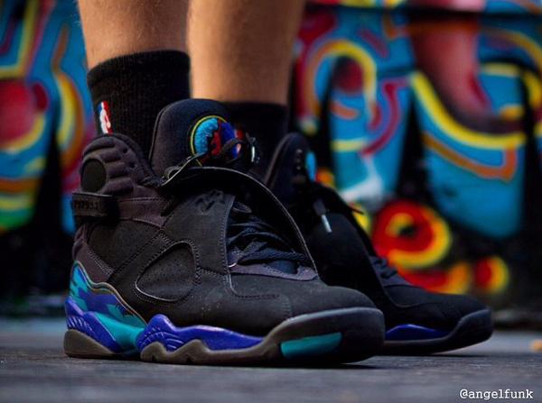 chaussettes Air Jordan 8 Aqua - @angelfunk