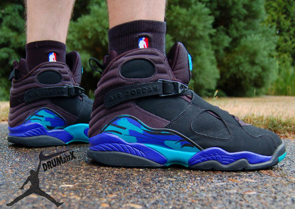 chaussettes NBA Air Jordan 8 Aqua -DruMattX
