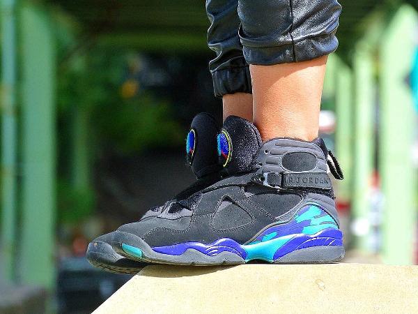 femme Air Jordan 8 Retro Aqua - @britta_ruth920 (1)
