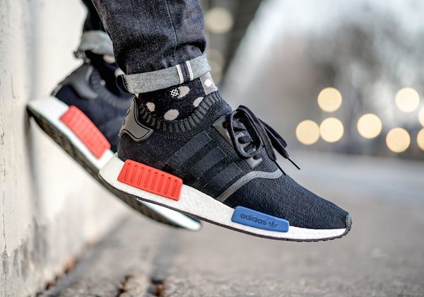 Adidas NMD Runner_1 Primeknit Core Black pas cher (1)