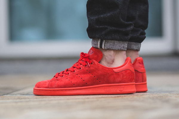 adidas stan smith rouge daim,Basket Adidas Stan Smith en ...