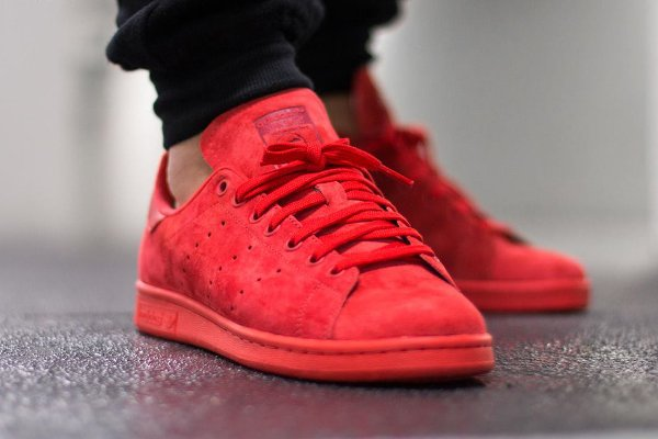 Adidas Stan Smith Suede Power Red (1)
